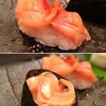 澄家 - 赤貝の本身&ひも。ちゃんとオーダーしてから殻を割ってくれます。
