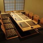 川村料理平 - 奥の掘り炬燵式個室(最大12名さん)