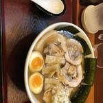 めん和正 - 中華麺中盛り 850円。味玉 50円、海苔 50円、チャーシュー 200円トッピング