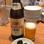 餃子菜館 勝ちゃん - 瓶ビール中瓶600円