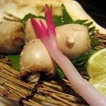 四季の味 はやしだ - さわらの白子の塩焼き、もっちりとした食感