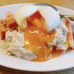 YONA YONA BEER WORKS - 半熟卵のポテトサラダ ツナソース 650円