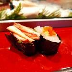 寿司栄 - 白えびと蟹