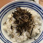 あいおい食堂 - 七分つき米と自家製ふりかけ