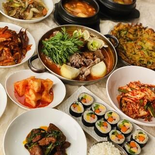 恵比寿・東中野の老舗の韓国家庭料理もご堪能いただけます!