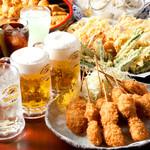 京都北山ダイニング - 串揚げ、天ぷらなどビールに合うおつまみ料理もご用意しています。
