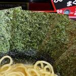 松壱家 - 海苔増しは5枚100円。