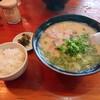 Tonraku - 料理写真:2020年9月 長浜ラーメン大盛とライス