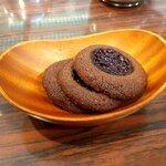 カフェカブトヤマ - ベリーソースのクッキー