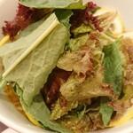 らぁ麺 レモン&フロマージュ GINZA - レモンラーメンにたっぷり野菜トッピング