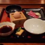 とっぴんぱらりのぷ - 比内地鶏の温泉玉子とがっこ