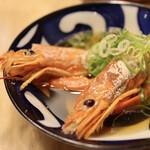 魚屋 十忠八九 - 海おでん 赤海老(480円)