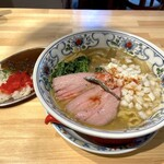 ビーフ キッチン スタンド - すごい煮干しラーメン+ミニカレーセット(1,133円)