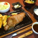 魚彩家 らくぜん - 料理写真:サーロインステーキセット(150g)
