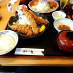 13730066 - 宝山豚ロース海老定食(1764円)