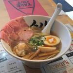 貝だしラーメン黒船 - 料理写真:貝だしラーメン醤油(800円)+味玉(100円)