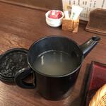 長岡屋 - 蕎麦湯