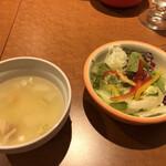 137309418 - スープとサラダ