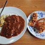 麗都  - 料理写真:昼セット(カレー飯+唐揚げ)(730円)