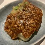陶ふ工房 - 料理写真:揚げ出し豆腐 肉味噌餡掛け♪