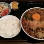 太田屋 - 天玉味噌煮込みランチ