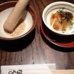 13732975 - すり胡麻とお豆腐