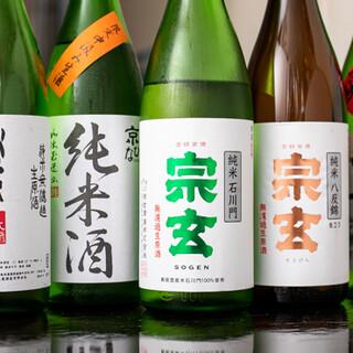 日本酒は常時30~40種類をご用意。新しい味にも出会えます!