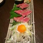 花膳 - 山形牛タタキ