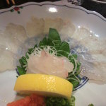 銀杏釜めし - コチ刺身