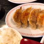 あけぼのラーメン - セット餃子
