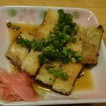 うなぎ屋 鰻里 - 一品料理の白焼きのネギポン酢 300円
