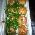 たこ焼きQちゃん - 自分のニンニク入りのネギ蛸です