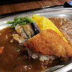 開運1円カレー - 野菜と魚のフライなんかを取っちゃった