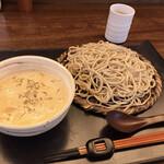 137345991 - マイタケとキノコのクリームつけ蕎麦