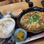 喫茶マロニエ - 料理写真:カレーうどん定食