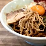 くじら食堂 - 料理写真:限定の「あBlack」900円と生卵・50円