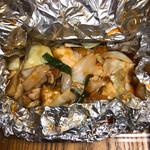 137352521 - 揚げ豆腐豚肉炒め定食(テイクアウト)