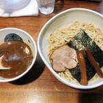 濃厚魚介らぅ麺 純 - 豚骨魚介つけ麺 特盛400g 980円