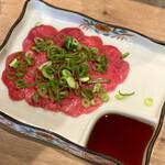 広島ホルモン・冷麺・元祖たれ焼肉 肉匣 - タン刺し