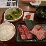 焼肉 乙ちゃん - ひれ&上カルビランチ