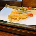 天ぷら食堂 田丸 - 料理写真:海老天と海老天大葉巻き