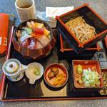 わか松 - 料理写真:海鮮万歳ランチ 麺大盛り、ご飯大盛り