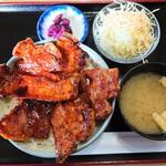 さくら亭 - 料理写真:「ぶた丼 肉盛り」①