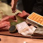 窯焼き割烹 黒泉 - 料理写真:本日の食材