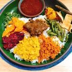 ランカキャーマ クルバドゥ - 料理写真:rice&carry(チキン)タイ米大盛り 1200円
