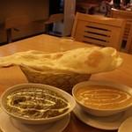 東インドカレーレストラン シャンティ - カレーセット(これにサラダ付)