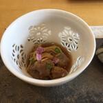 うちげの料理 八塩 - カワハギのキモの煮付け