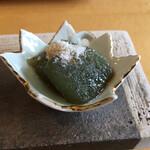 うちげの料理 八塩 - 海藻を練り込みコンニャク