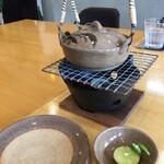 うちげの料理 八塩 - 土瓶蒸しセッティング