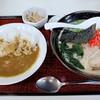 さつま - 料理写真:豚骨ら~めん+半カレー